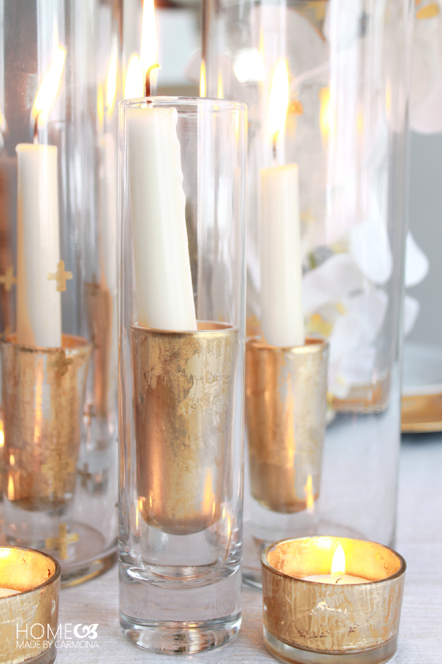 Diy Glass Candle Holders Home Made By Carmona