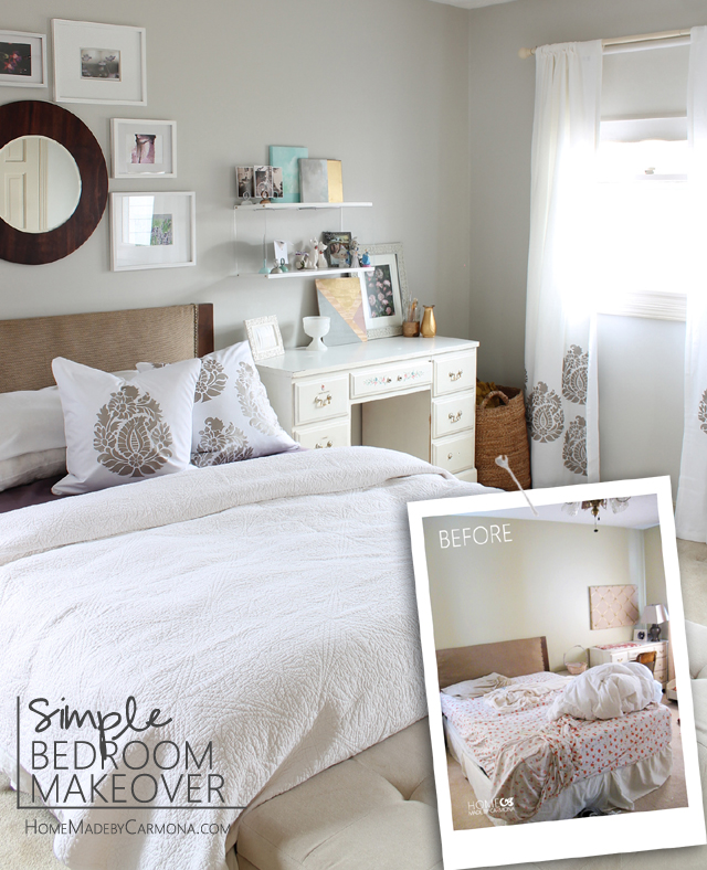 Simple Bedroom Makeover Home Made By Carmona