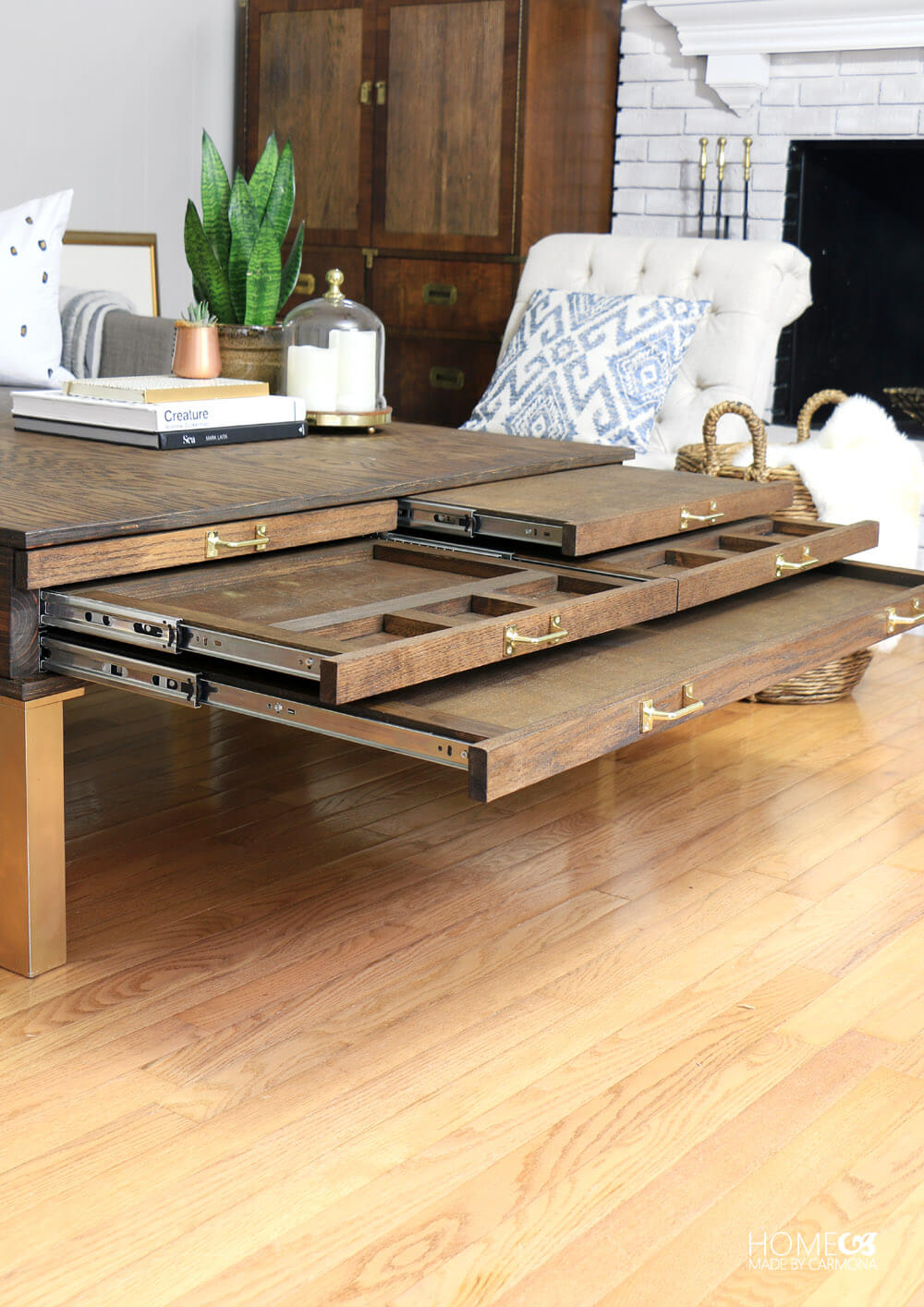 Diy Coffee Table With Pullouts Home Made By Carmona